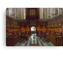 The Choir Stalls Canvas Print