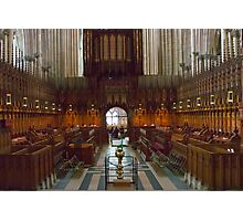 The Choir Stalls Photographic Print