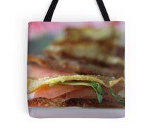 Wanting a Tuna snack? (Wonton Tuna Wasabi Stacks with recipe - makes 24) Tote Bag