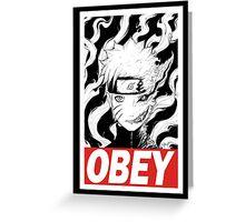 Naruto OBEY Greeting Card