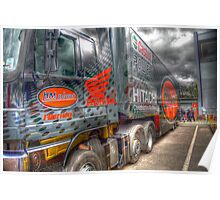 hm plant superbikes team truck hdr Poster
