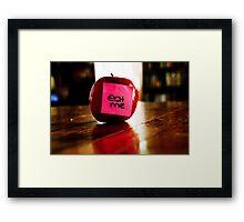 Eat Me  Framed Print