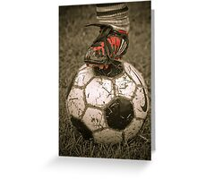 Soccer time again  SOLD 1 YAY  Greeting Card