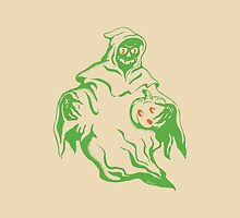Spooky Ghost Holding Pumpkin by VorpalVector