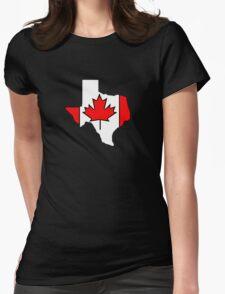 Texas outline Canada flag T-Shirt