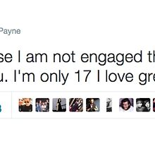 """Liam Payne """"I'm Not Engaged Tweet"""" One Direction by colormeh"""