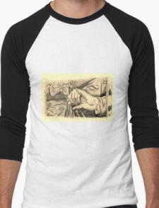 Hands in sepia Men's Baseball ¾ T-Shirt