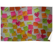 Post it notes  Poster