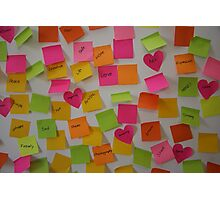 Post it notes  Photographic Print