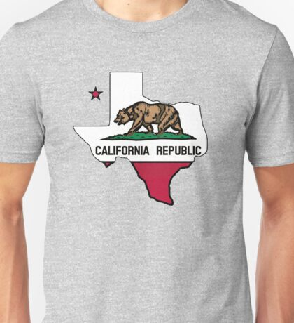Texas outline California flag Unisex T-Shirt