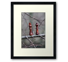 We are not safe out on this limb ... SOLD one YAY !! Framed Print