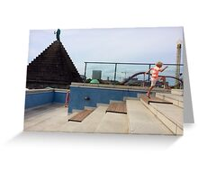 Boy in the city Greeting Card
