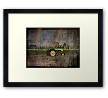 John Deere Double Rainbow Framed Print