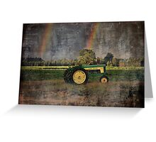 John Deere Double Rainbow Greeting Card