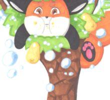 A Fat Fox In A Pear Tree Sticker