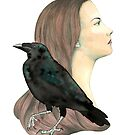 The girl and the raven by ElisabetMarti