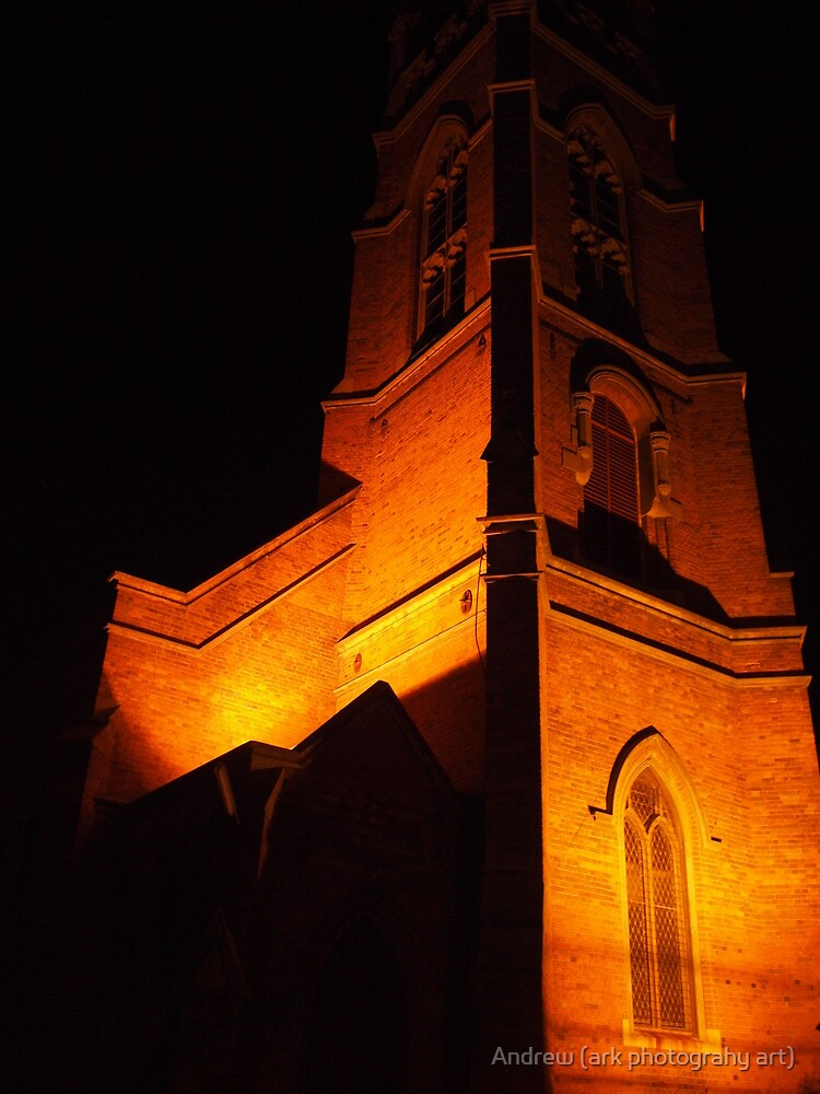 Church at night by Andrew (ark photograhy art)