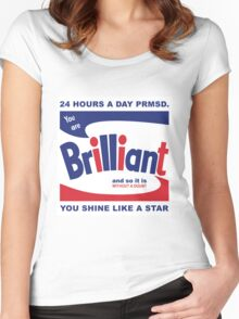 Brillo Brilliant (remembering Andy Warhol) Women's Fitted Scoop T-Shirt