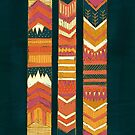 Navii Geometric Tapestry Illustration by joyfulroots