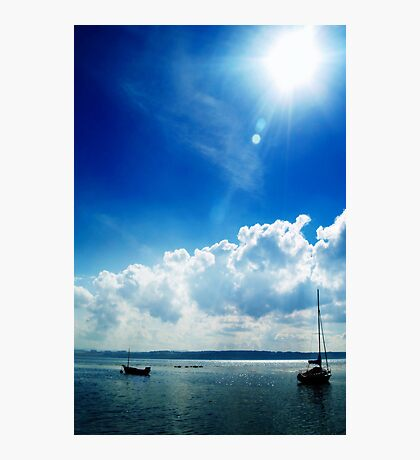 Sunburst Blues At Limekilns, Scotland. Photographic Print