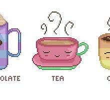 Hot Chocolate, Tea, Coffee by victoriab-123