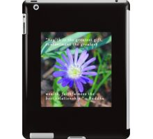 Floral Themed Inspirational Photography iPad Case/Skin
