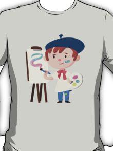 Cute Little Artist Design T-Shirt