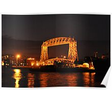 Canal Park Lift Bridge at Night Poster