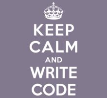 KEEP CALM AND WRITE CODE Kids Clothes