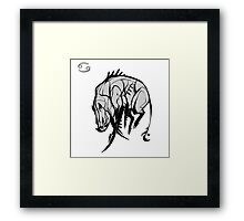 DoubleZodiac - Cancer Boar Framed Print