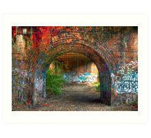 Urban decay-under the bridge Art Print