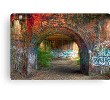 Urban decay-under the bridge Canvas Print