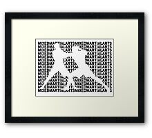 Mixed Martial Arts Cage Fighting Framed Print