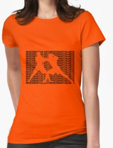 Mixed Martial Arts Cage Fighting Womens Fitted T-Shirt