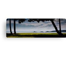 Mumbles lighthouse Swansea Bay Canvas Print