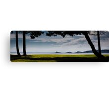Mumbles lighthouse Swansea Bay Canvas Print