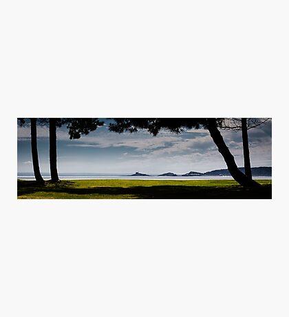 Mumbles lighthouse Swansea Bay Photographic Print