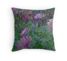 Fields of Fancy - Pastel Daisies Throw Pillow