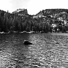 Flattop Mountain and Bear Lake by neimer