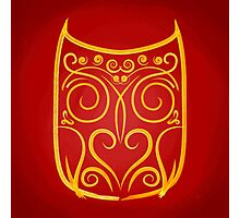 abstract owl Photographic Print