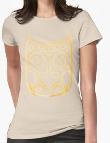 abstract owl Womens Fitted T-Shirt