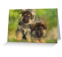 Playful Pups Greeting Card