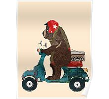 scooter bear Poster