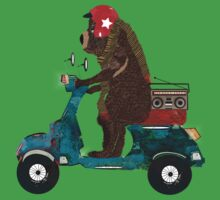 scooter bear One Piece - Short Sleeve