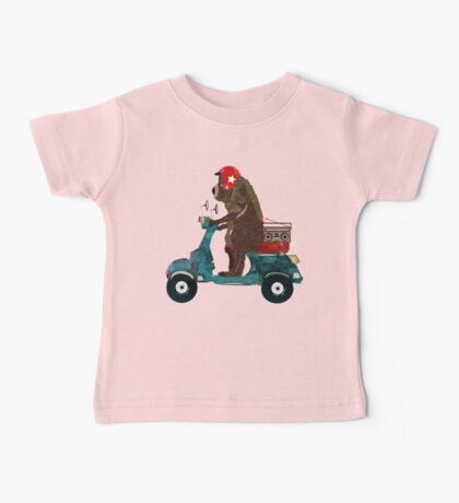 scooter bear Baby Tee