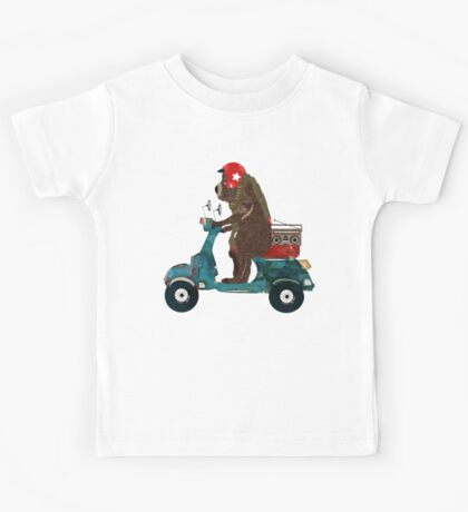 scooter bear Kids Tee