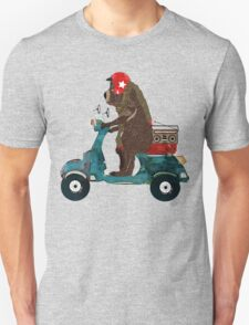 scooter bear Unisex T-Shirt