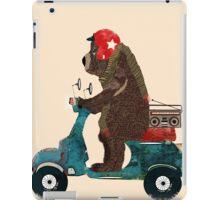scooter bear iPad Case/Skin