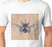 Realism Charcoal Drawing of Beetle Unisex T-Shirt