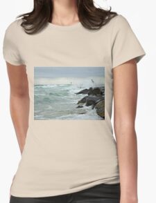 For The Love Of Fishing - Island Beach State Park - NJ Womens Fitted T-Shirt